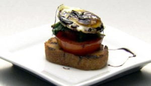 "Recipe: Baby ""BLT\"" Breakfast Sandwich Amuse Bouche"